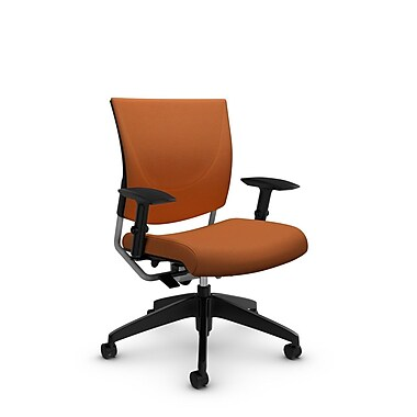 GlobalMD – Chaise ergonomique Graphic (2739 IM81), tissu imprimé paprika, orange