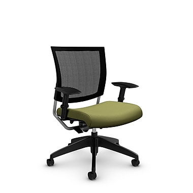 Global® (2738MB IM78) Graphic Mesh Posture Chair, Imprint Celery Fabric, Green