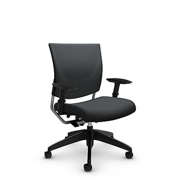 GlobalMD – Chaise ergonomique Graphic (2739 IM83), tissu imprimé ardoise, gris