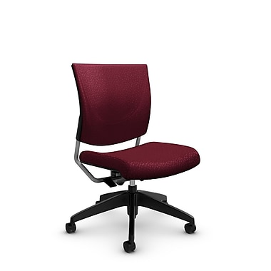 Global® (2737 MT29) Graphic Posture Armless Chair, Match Burgundy Fabric, Red