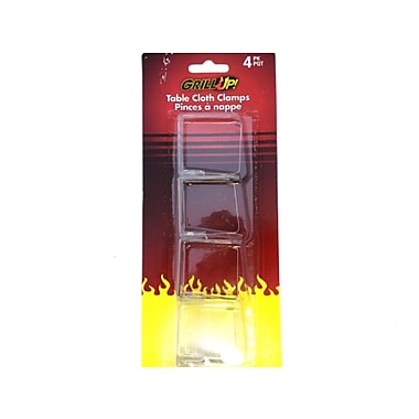 Grill Up Table Cloth Clamp, Clear, 6/Pack