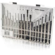 C2G 16 Piece Jeweler Screwdriver Set, Chrome, (38014)