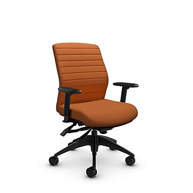 Global® (2852-3 IM81) Aspen Mid Back Multi Tilter, Imprint Paprika Fabric, Orange