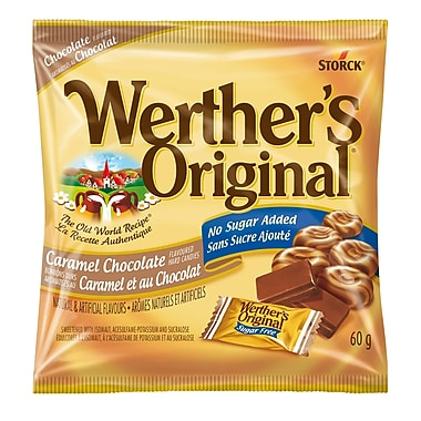 Werther's Original Chocolate, No Sugar Added, 12 pieces/60g, (339956-70)
