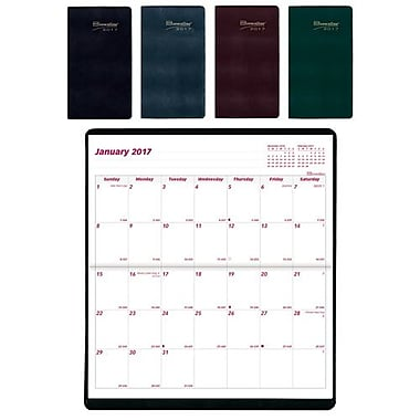Brownline 2017/2018 16-Month Monthly Pocket Planner, 6-1/2