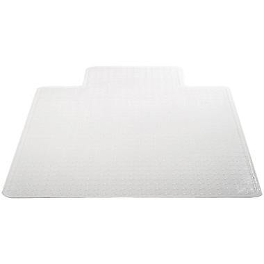 Deflecto Chair Vinyl Chair Mat for Carpet, Rectangular With Lip, 53