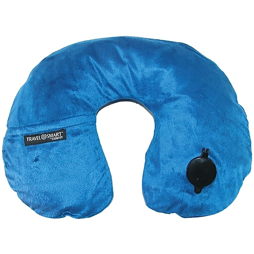 Travel Smart By Conair Ts44nvy Ez Inflate Fleece Neck Rest (navy)