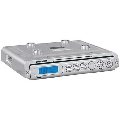 Kitchen Radio Under Cabinet: Sylvania Undercabinet CD Clock Radio