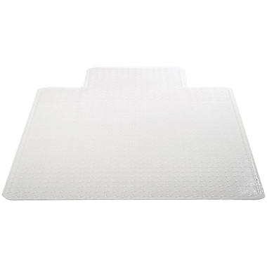 Deflecto Chair Vinyl Chair Mat for Carpet, Rectangular With Lip, 48