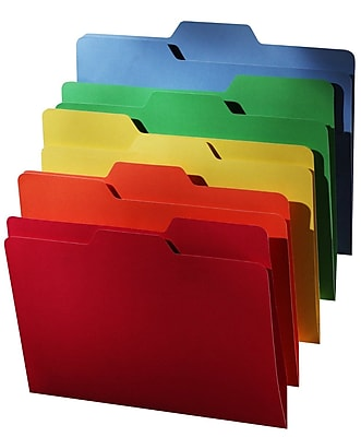 Find It®, All-Tab File Folders, Letter, 18/Pack, 5 Color Assortment, (FT07173)