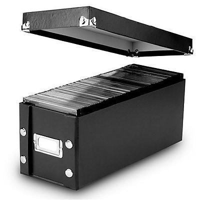 Snap-N-Store; CD Storage Boxes, Black (SNS01617)