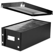 "Snap-N-Store® DVD Storage Boxes, 15.5"" x 5.5"" x 7.625"", 2 Boxes/Pack, Black (SNS01618)"