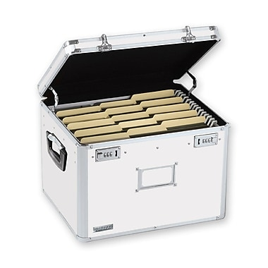 Vaultz® Locking Storage Chest, Letter/Legal, White (VZ00169)