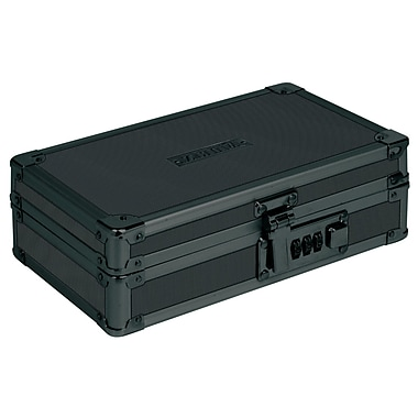 Vaultz Locking Utility Box with Combination Lock, Black on Black (VZ00192)