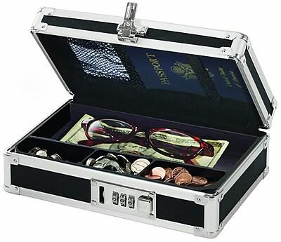 Vaultz® Locking Mini Cash Box with Tray, 2.75