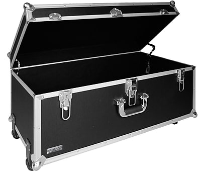 Vaultz® Locking Extra-Large Storage Chest with Wheels, Black (VZ00355)