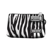 "Vaultz® Locking Zipper Pouch, 5"" x 8"", Zebra (VZ00474)"