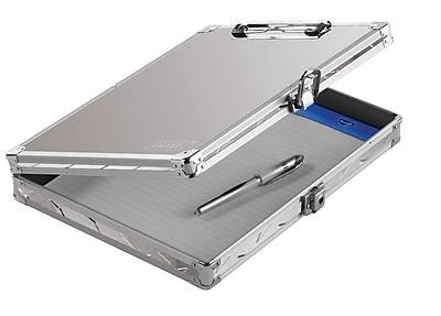 Vaultz® Locking Storage Clipboard, Letter, Silver Treadplate (VZ00698-DAS)