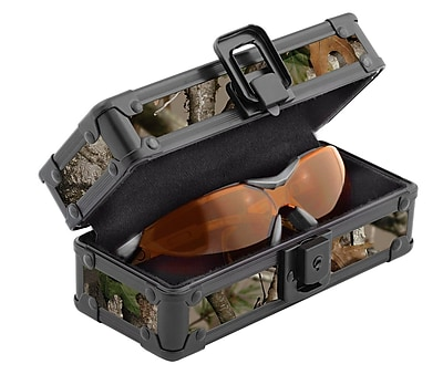 Vaultz® Locking Sports Sunglass Case, Next Camo/Black (VZ00721)