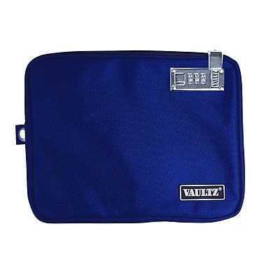 Vaultz® Locking Pool Pouch with Tether, Medium, Blue (VZ00724)