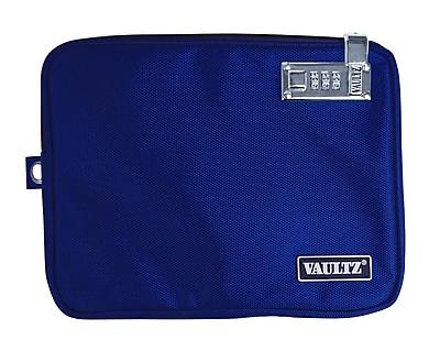 Vaultz® Locking Pool Pouch with Tether, Medium, Blue (VZ00724)