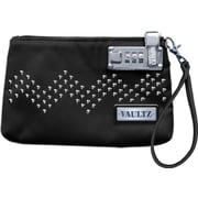 "Vaultz® Locking Wristlet, 5.5"" x 8"", Black with Studs (VZ00761)"