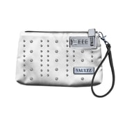 "Vaultz® Locking Wristlet, 5.5"" x 8"" , White with Studs (VZ00763)"