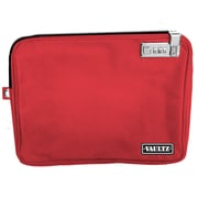 Vaultz® Locking Pool Pouch with Tether, Large, Red (VZ00815)