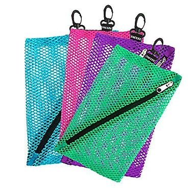 Vaultz Mesh Storage Bags, Assorted Colours and Sizes, 4/Pack (VZ03483)