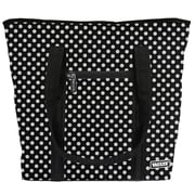Vaultz® Locking Cooler Bag, Black/White Polka Dots (VZ03513)