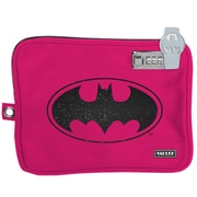 "Vaultz® Medium Electronics Pouch with Tether, Pink Batman, 7.5"" x 9"" (VZ03546)"