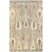 StyleHaven Transitional Ikat Wool 8'X 10' Grey/Beige Area Rug (WANA680008X10L)