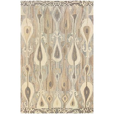 StyleHaven Transitional Ikat Wool 8'X 10' Grey/Beige Area Rug (WANA680008X10L)