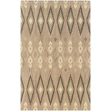 StyleHaven Transitional Ikat Wool 8'X 10' Beige/Ivory Area Rug (WANA680018X10L)