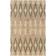 "StyleHaven Transitional Ikat Wool 3'6"" X 5'6"" Beige/Ivory Area Rug (WANA680014X6L)"