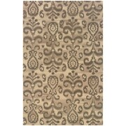 "StyleHaven Transitional Floral Ikat Wool 3'6"" X 5'6"" Beige/Brown Area Rug (WANA680024X6L)"