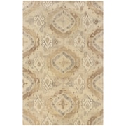 StyleHaven Transitional Ikat Wool 5'X 8' Beige/Ivory Area Rug (WANA680035X8L)