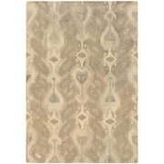 StyleHaven Transitional Ikat Wool 8'X 10' Ivory/Beige Area Rug (WANA680048X10L)