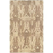 "StyleHaven Transitional Ikat Wool 3'6"" X 5'6"" Beige/Tan Area Rug (WANA680054X6L)"