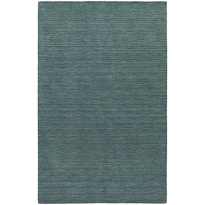 StyleHaven Transitional Solid Shag 100% Wool 5' X 8' Blue Area Rug (WANO271015X8L)