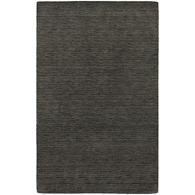 StyleHaven Transitional Solid Shag 100% Wool 5' X 8' Charcoal Area Rug (WANO271025X8L)