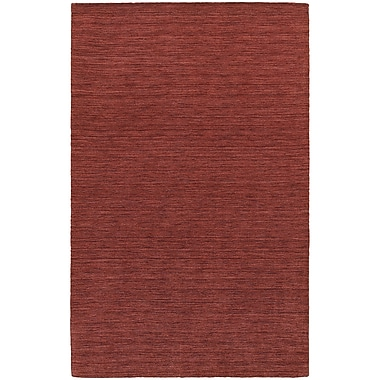 StyleHaven Transitional Solid Shag 100% Wool 8' X 10' Red Area Rug (WANO271038X10L)