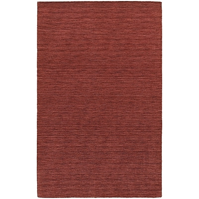 StyleHaven Transitional Solid Shag 100% Wool 6' X 9' Red Area Rug (WANO271036X9L)