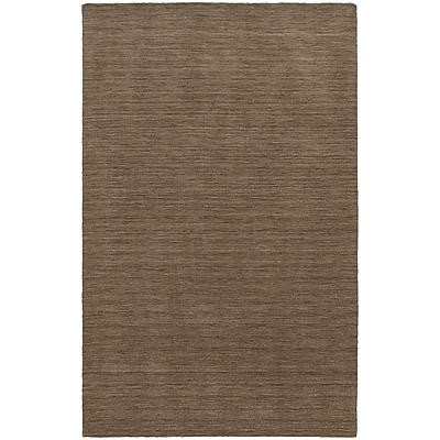 StyleHaven Transitional Solid Shag 100% Wool 5' X 8' Tan Area Rug (WANO271045X8L)