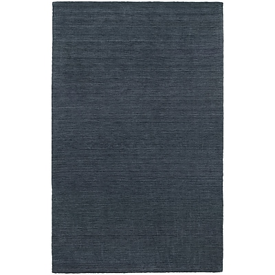 StyleHaven Transitional Solid Shag 100% Wool 6' X 9' Navy Area Rug (WANO271066X9L)