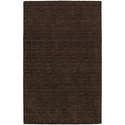 StyleHaven Transitional Solid Shag 100% Wool 6' X 9' Brown Area Rug (WANO271096X9L)