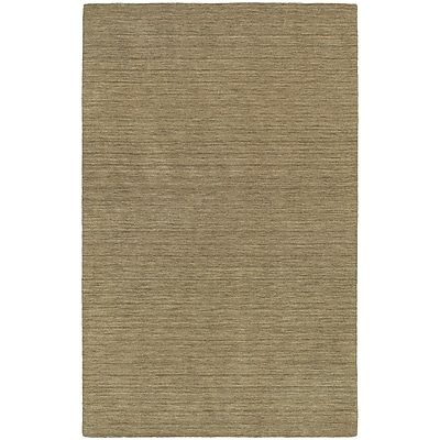 StyleHaven Transitional Solid Shag 100% Wool 6' X 9' Gold Area Rug (WANO271106X9L)