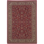 """StyleHaven Traditional Polypropylene 6'7"""" X 9'6"""" Red/Ivory Area Rug (WARI113R36X9L)"""