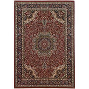 """StyleHaven Traditional Polypropylene 5'3"""" X 7'9"""" Red/Blue Area Rug (WARI116R35X8L)"""