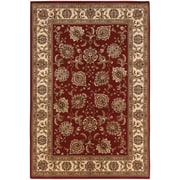 """StyleHaven Traditional Polypropylene 5'3"""" X 7'9"""" Red/Ivory Area Rug (WARI117C35X8L)"""